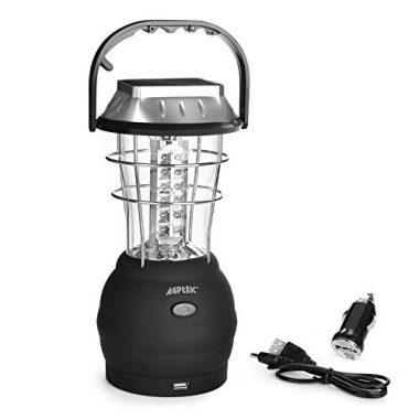 AGPTEK 5 Mode Hand Crank Dynamo 36 LED Camping Solar Lantern