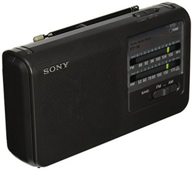 Sony ICF38 Portable AM/FM Radio