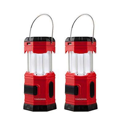 TANSOREN 2 PACK Portable LED Camping Solar Lantern