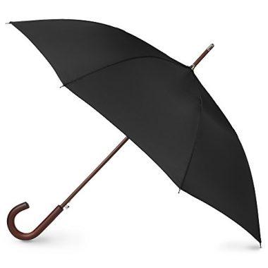 totes Auto Open Wooden Handle Umbrella