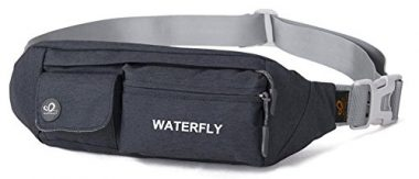 WATERFLY Fanny Pack Slim Soft Polyester
