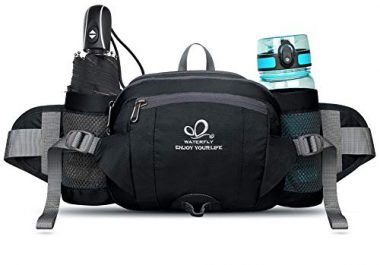 WATERFLY Fanny Pack with Water Bottle Holder