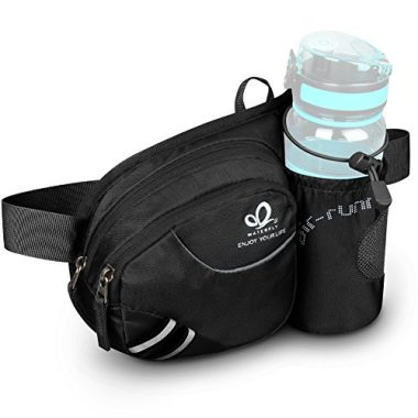 WATERFLY Hiking Waist Bag Fanny Pack with Water Bottle Holder