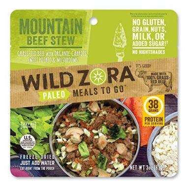 Wild Zora Paleo Meals to Go Backpacking Food