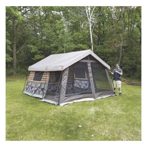 Timber Ridge 8-Man Log Cabin Glamping Tent