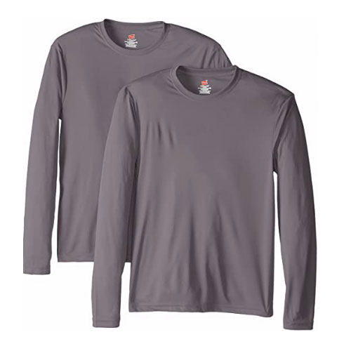 Hanes Long Sleeve Cool Dri UPF 50+ Hiking Shirt