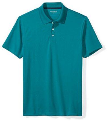 Amazon Essentials Men's Slim-Fit Quick-Dry Golf Polo Hiking Shirt