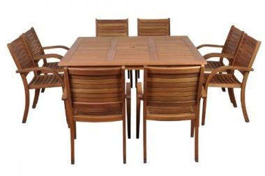 Amazonia Arizona 9 Piece Square Outdoor Dining Set