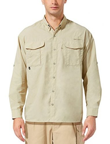 Baleaf Men's Outdoor UPF 50+ Sun Protection Hiking Shirt