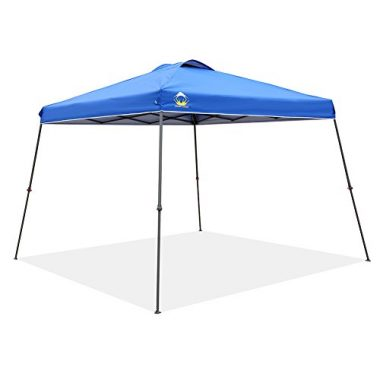 CROWN SHADES Patented Slant Leg One Push Up Beach Canopy