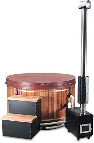 Canadian Redwood Cedar 5′ Outdoor Wood Fired Hot Tub