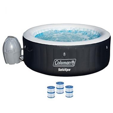 Coleman 71″ x 26″ Inflatable Spa 4-Person Hot Tub