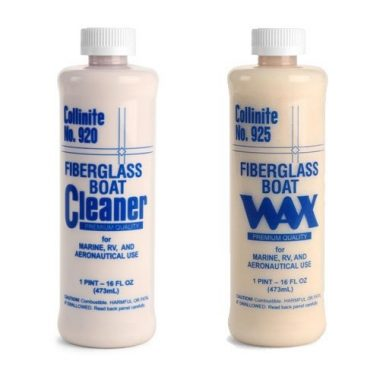 Collinite Fiberglass Boat Cleaner & Fiberglass Boat Wax Combo