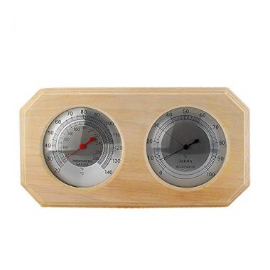 Wooden Sauna Hygrothermograph by Eleoption