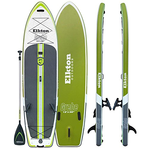 Elkton Outdoors Grebe 12-Foot Inflatable Fishing Paddle Board