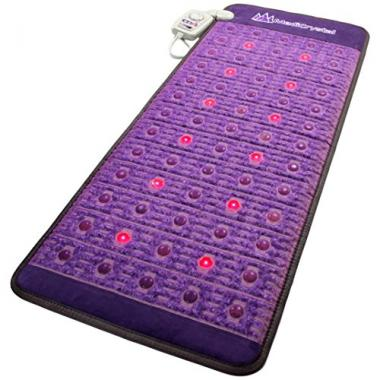 MediCrystal Amethyst Mat Natural Agate Gems Infrared Heating Pad
