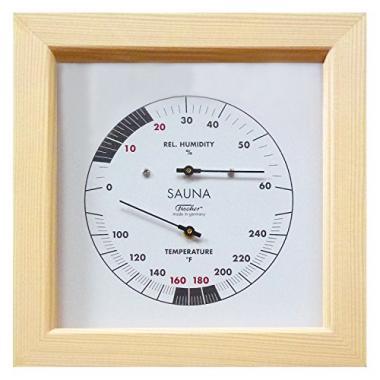 Fischer Germany Hygrometer 6.7 Inch Sauna Thermometer