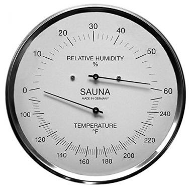 Fischer Sauna Thermometer & Hygrometer 6.3 Inches by Fischer Germany