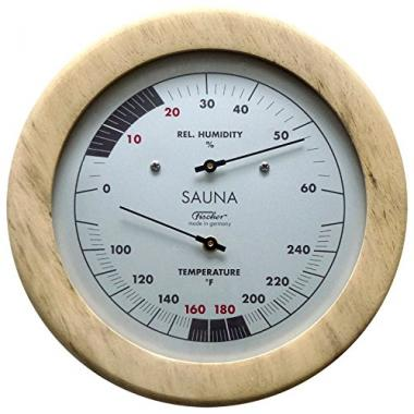 Fischer Germany Hygrometer 6.1 Inch Sauna Thermometer