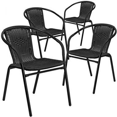Flash Furniture 4-Pack Outdoor Patio Chairs