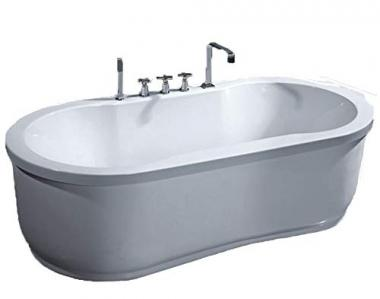 Freestanding Jetted Bathtub by MCP Jetted Tubs