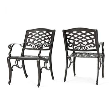 Christopher Knight Home Covington Aluminum Patio Chairs