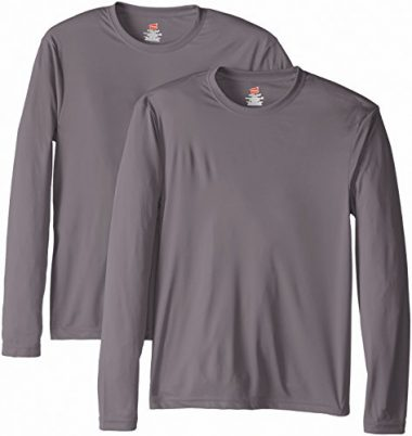 Hanes Men's Long Sleeve Cool Dri T-Shirt UPF 50+ Hiking Shirt