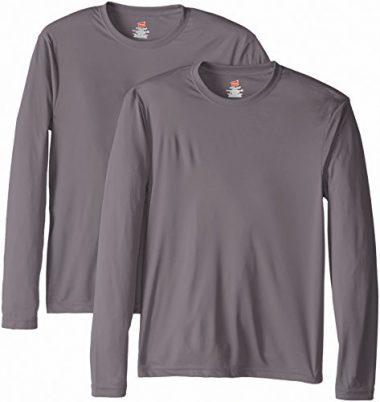 Hanes Men's Long Sleeve Cool Dri T-Shirt UPF 50+ Hiking Shirt