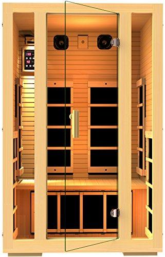 JNH Lifestyles Joyous 2 Person Far Infrared Home Sauna