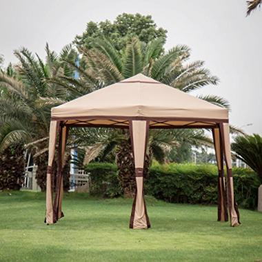 Kinbor 11.8'x 10.2′ Ez Outdoor Canopy Hot Tub Gazebo