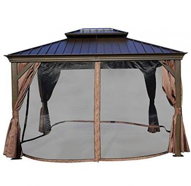 Kozyard Alexander 10'x12′ Permanent Hot Tub Gazebo