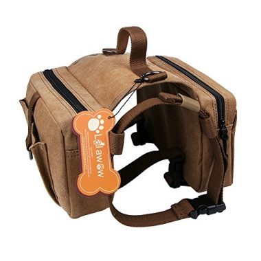 Lalawow Harness Canvas Dog Backpack