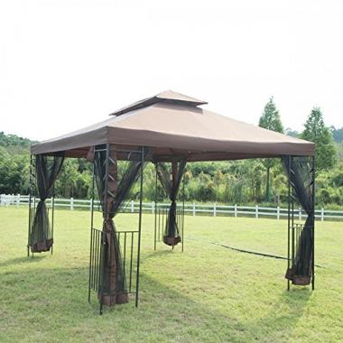 PayLessHere 12'X 10′ Outdoor w/Netting Hot Tub Gazebo