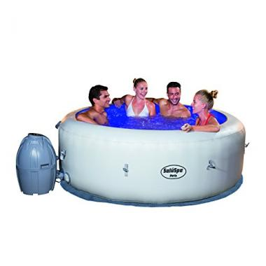 Bestway SaluSpa Paris AirJet Inflatable Hot Tub with LED Light Show