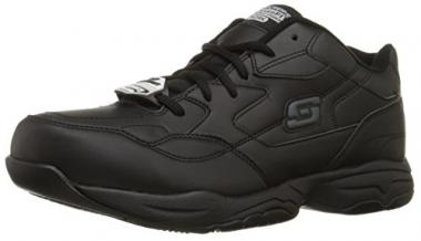 Skechers for Work Men's Felton Slip Resistant Relaxed-Fit Work Shoe