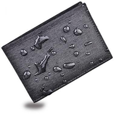 kinzd Men's Bifold Trifold Waterproof Wallet