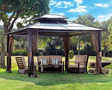 Sunjoy Chatham (10 x 12) Hot Tub Gazebo