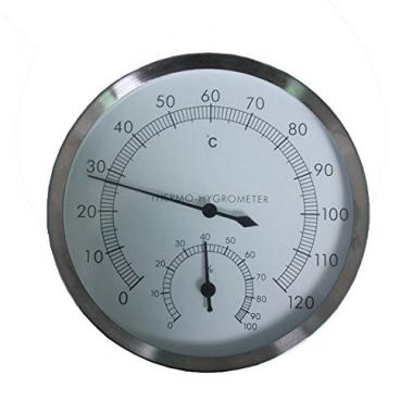 Stainless Steel Case Sauna Room Thermometer Hygrometer by szdealhola