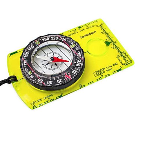 TurnOnSport Professional Field Orienteering Compass For Kayaking