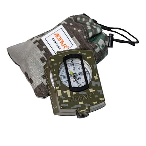 AOFAR AF-4580 Military Lensatic Sighting Kayak Compass