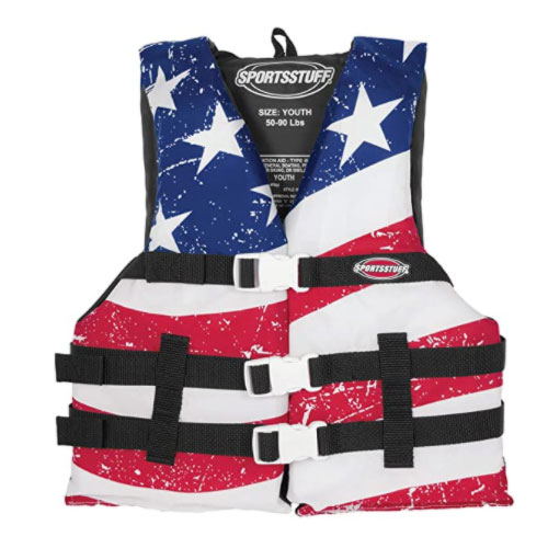 SportsStuff Stars and Stripes Life Jacket For Boating