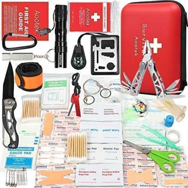Aootek Upgraded first aid survival kit