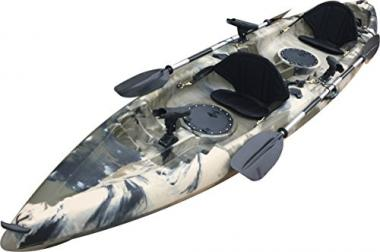 12-Foot 5-inch Sit On Top Tandem 2 Person Kayak For Fat People