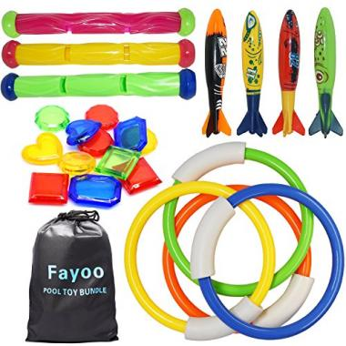 Underwater Swimming/Diving Pool Toys Gift Set, 23 pieces by Fayoo
