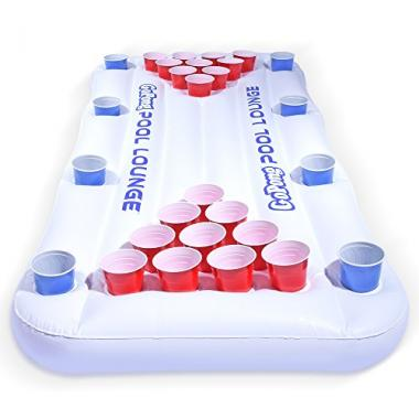 Pool Lounge Inflatable Beer Pong by GoPong