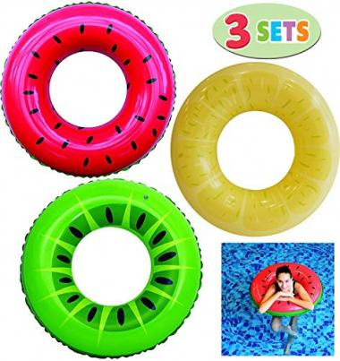 Joyin Inflatable Swim Tube Raft (3 Pack) Pool Toys