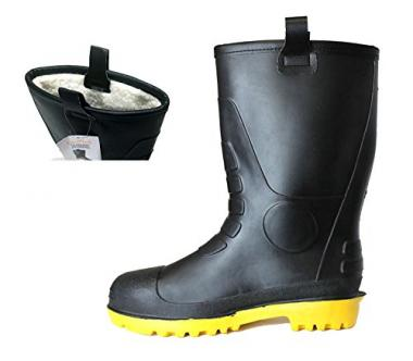 Waterproof Rain Boots with Fur Interior by L&M