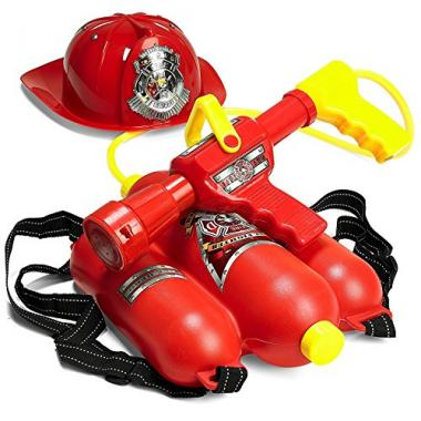 Prextex Fireman Water Shooter & Blaster Backpack Water Gun