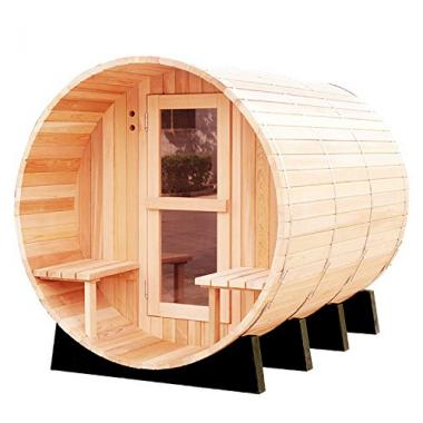 RGX 4-6 Persons Traditional Hemlock Wooden Outdoor Sauna