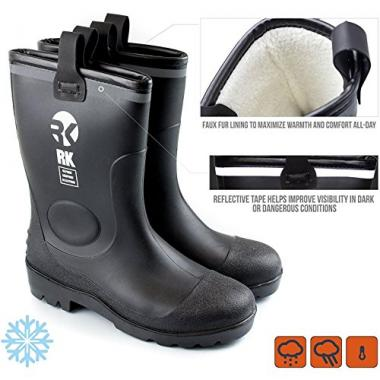 Insulated Waterproof Rain Boots by RK